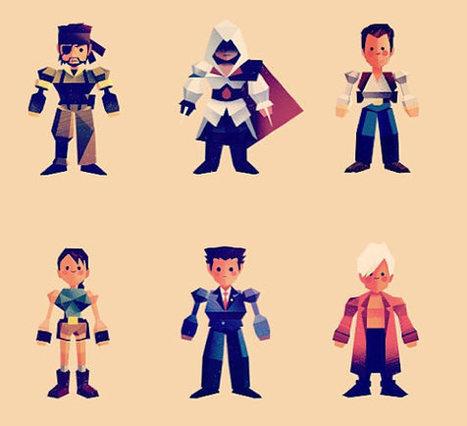 Personajes de videojuegos al estilo cabezón de Final Fantasy VII | gamerteca | Scoop.it