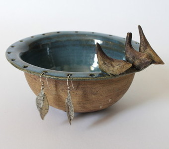 Craftori » Blue three little birds jewelry bowl, for you home | Good stuff to get | Scoop.it