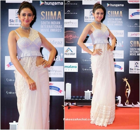 Rakul Preet Singh in Lace Saree n Bustier Blouse @SIIMA Awards | Indian Fashion Updates | Scoop.it