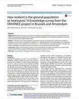 How resilient is the general population to heatwaves? A knowledge survey from the ENHANCE project in Brussels and Amsterdam | Ufficio RIA 2.0 | Scoop.it