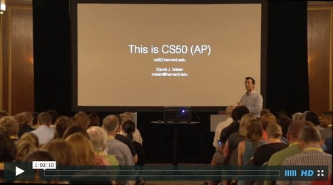 This is CS50 (AP) with David Malan - November Learning Conference | :: The 4th Era :: | Scoop.it