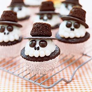 Skeleton Cupcakes | MyRecipes.com | Halloween & Spooky Fun Stuff~ | Scoop.it