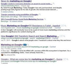 Quick Experiment with Google+ SEO | ten Hagen on Google | Scoop.it