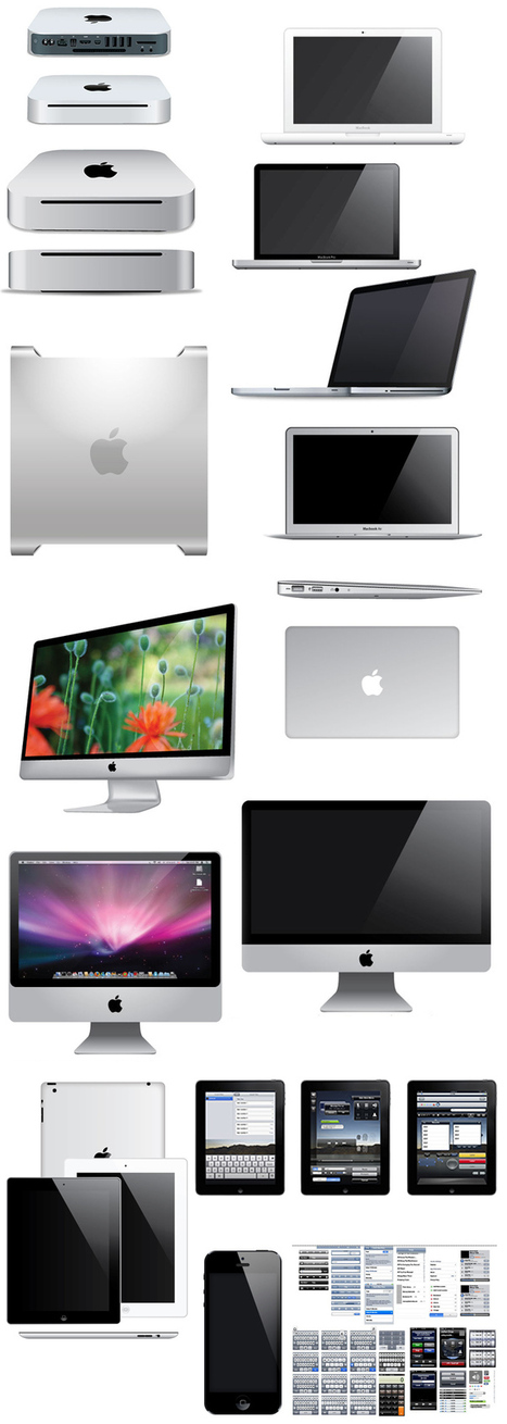 Pack Vectores gratis de iPhone, iPad, iMac, MacBook y mucho más | Recursos | Scoop.it