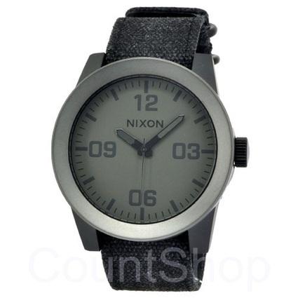 Buy Nixon Corporal A243 Matte Black/Matte Gunmetal Watch online | DiscountShop- An Online Authentic Watch Store | Scoop.it