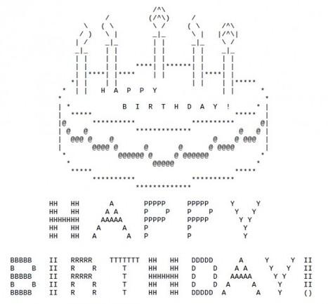 Birthday ASCII Art   ASCII Art   Scoop.it