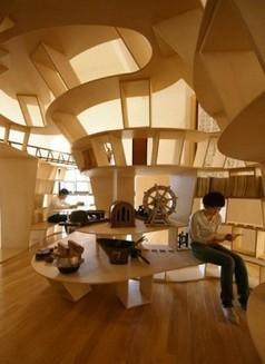 Une bibliothèque tout de bois vêtue | Vente et collecte de livres d'occasion - RecycLivre.com | Monde des bibliothèques | Scoop.it