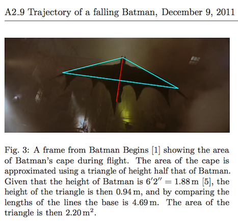 Physics Students Say A Gliding Batman Would Die Upon Landing | I want more science fiction | Scoop.it