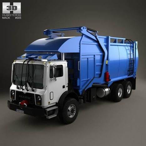 3D model of Mack TerraPro Garbage Truck 2007   3D models   Scoop.it
