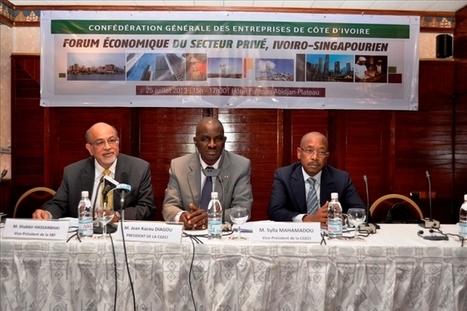 Forum économique ivoiro-singapourien : les opportunités commerciales passées aux peignes fins | La relance de l'économie ivoirienne après la crise post-électorale | Scoop.it