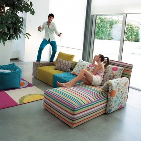 20 Inspiring Ideas: Colorful Living Room Decoration with Upholstered Couches | Design Space | Scoop.it