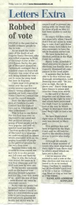 Maryport Fraud - Copy of printed letter | The Indigenous Uprising of the British Isles | Scoop.it