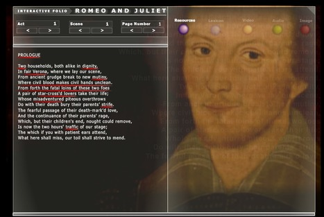 Interactive Folio : Romeo and Juliet | Romeo and Juliet, William Shakespeare | Scoop.it