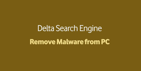 How to remove delta search engine from chrome and other browser?   W3 Update   How to   Scoop.it