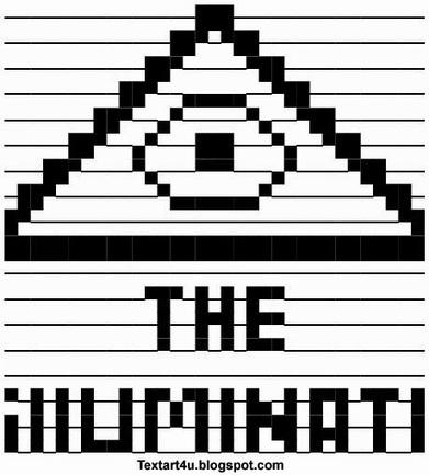 The-Illuminati-ASCII-Text-Art.jpg (460x509 pixels) | ASCII Art | Scoop.it