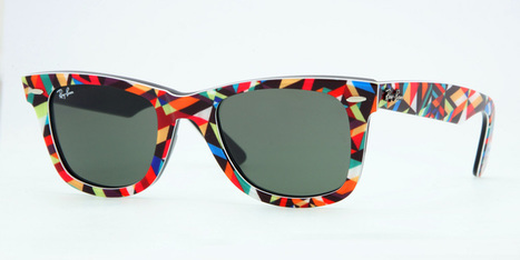 "Matt W. Moore  & Ray Ban ""Rare Prints"" Wayfarers. 