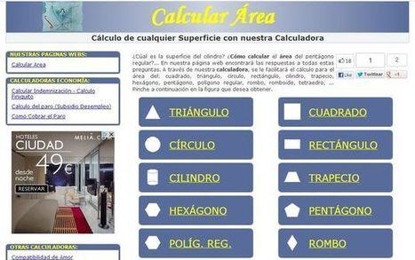 Calcular Área, calculadora online de áreas para múltiples formas geométricas | Recull diari | Scoop.it
