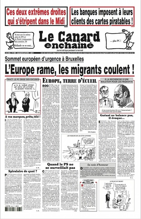 Le Canard Enchainé : La Une du 22 avril 2015 | Le BONHEUR comme indice d'épanouissement social et économique. | Scoop.it