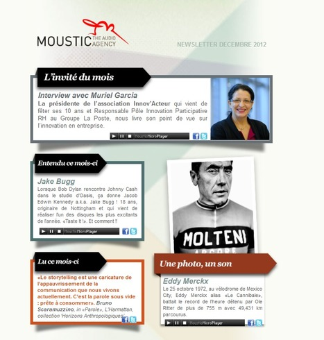 Moustic Newsletter Décembre 2012 | Radio d'entreprise | Scoop.it