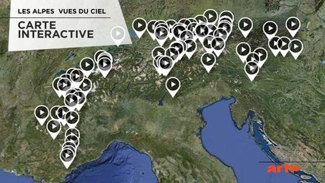 Les Alpes vues du ciel - Carte interactive | Remue-méninges FLE | Scoop.it