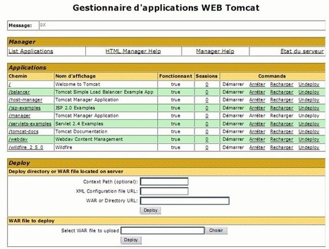 Installation et configuration du serveur d'application Apache Tomcat et déploiement et configuration de Wildfire sous Linux   Cours Informatique   Scoop.it