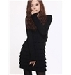 Korean Style Long Sleeve Elastic Sweater Dress   the fashion clothes shoes dress bags   Scoop.it