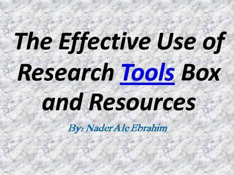 2012 - Research Tools Box By: Nader Ale Ebrahim | Virtual R&D teams | Scoop.it