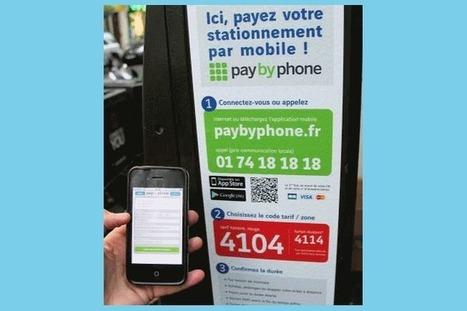 Le paiement du parking par mobile débute en Mars 2014 à Paris | Business | Scoop.it