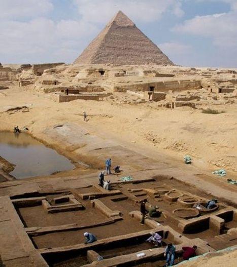 Des fouilles révèlent les restes d'une ville portuaire près des pyramides de Gizeh | Égypt-actus | Scoop.it