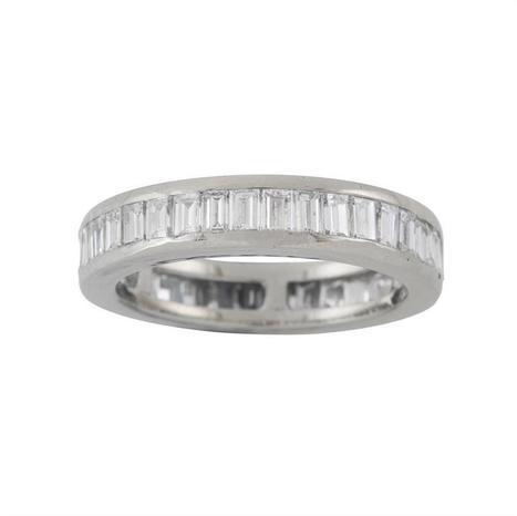 A baguette-cut diamond full eternity ring - Bentley & Skinner | Bentley And Skinner | Scoop.it