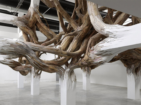 Architectural Columns at the Palais de Tokyo Explode into Organic Forms | Colossal | Visual art | Scoop.it