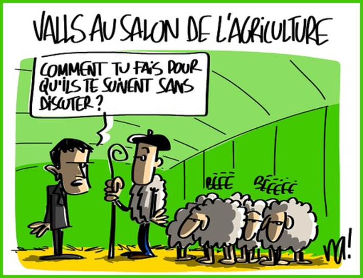 Manuel Valls au salon de l'agriculture | Baie d'humour | Scoop.it