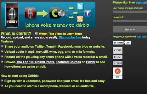 Chirbit - Record, Upload and Share Audio Easily - Social Audio | A New Society, a new education! | Scoop.it