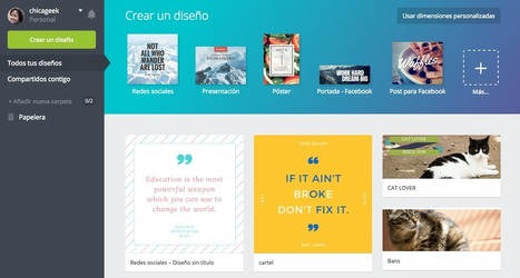 Canva, el editor gráfico online, lanza hoy su versión en español | Educacion, ecologia y TIC | Scoop.it