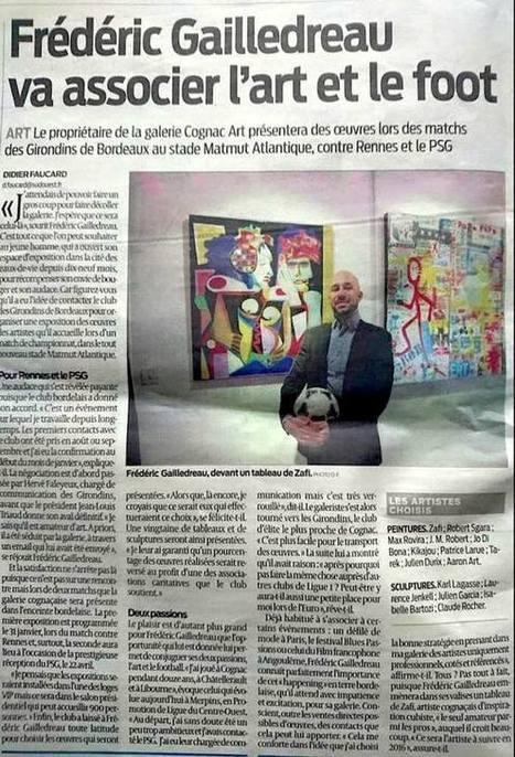 L'art au stade avec la galerie Cognac art | The art of Tarek | Scoop.it