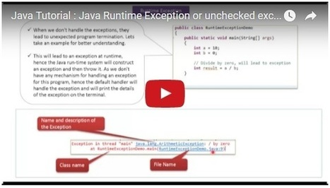 Java Tutorial : Java Runtime Exception or unchecked exception | JAVA | Scoop.it