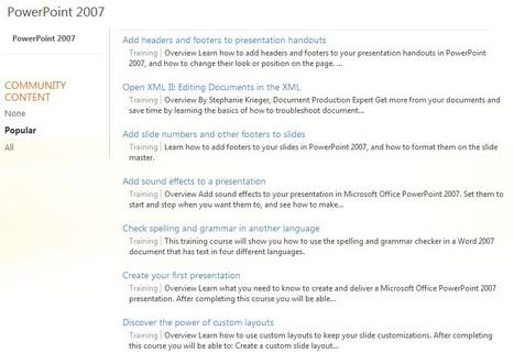 PowerPoint 2007 - Training - Office.com | Free Tutorials in EN, FR, DE | Scoop.it