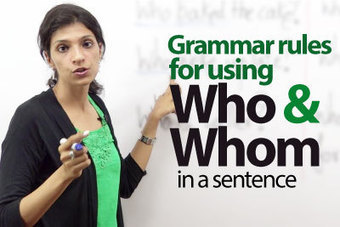 Using 'Who' or 'Whom' - Free English ESL Lesson | Learnex | Resources_4_EFL | Scoop.it