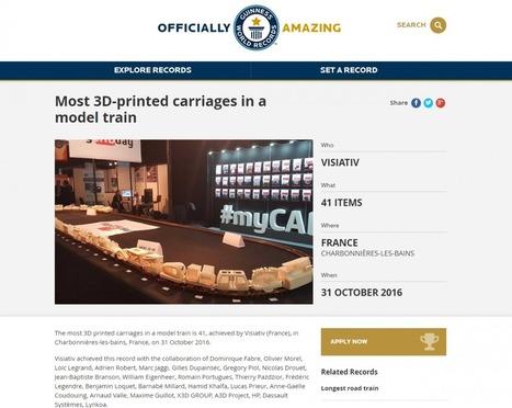 Guinness World Record : Lynkoa et ses partenaires décrochent un record du monde en impression 3D ! | Le Mag Visiativ | Scoop.it