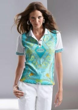 T-shirt femme vert et blanc avec imprimé | Les offres spéciales AtelierGS | Scoop.it