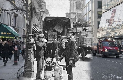 In pictures: London street scenes then and now | What's going down, in London town? | Scoop.it
