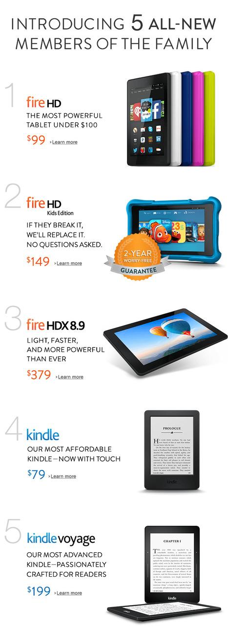 Kindle ailesinin yeni üyeleri: Fire HDX, Kindle Voyage ve Fire HD Kids | Kindle Haberleri | Scoop.it