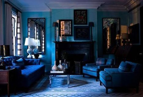 Dipped in Blueberry: Monochromatic Rooms | Designing Interiors | Scoop.it