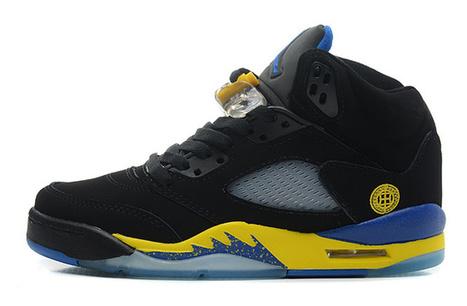 Air Jordan 5 Retro Women's Shoes black yellow blue [womensairjordan5retro_013] - $83.99 : Buy Air Jordan Online, Cheap Nike Shoes Sale 70% OFF, www.buyairjordan.us | Nike Shoes | Scoop.it