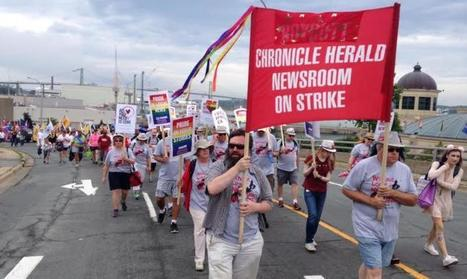 Six months on the Chronicle Herald picket line | J-Source | Nova Scotia Art | Scoop.it