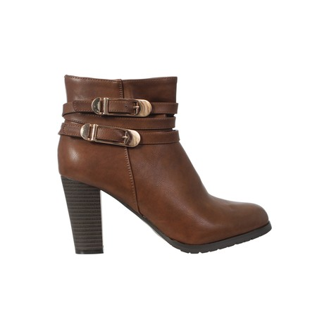 Faux Leather Heeled Buckle Zip Ankle Boots | Celebrity Style | Scoop.it