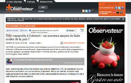 A lire ailleurs : TV connectée   Revue de presse   Bilans internet, media, réseaux sociaux de 2011   Scoop.it