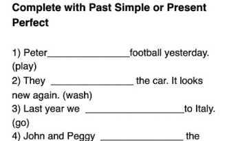Present Perfect or Simple Past Grammar Worksheet | Njaanam1  ESL | Scoop.it