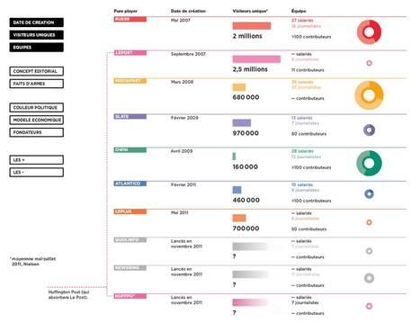 Infographie : les sites d'info pure players passés au crible | Télérama.fr | All about Data visualization | Scoop.it