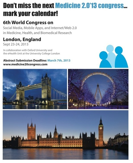Medicine 2.0'13 (London, UK) | Konferenser eHälsa | Scoop.it